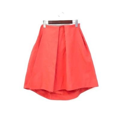 【中古】バルサラ BULSARA スカート 36 S オレンジ ポリエステル ひざ丈 無地 シンプル レディース 【ベクトル 古着】