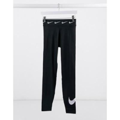 ナイキ レディース レギンス ボトムス Nike high waisted leggings with ankle logo in black Black