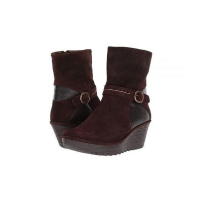 FLY LONDON フライロンドン レディース 女性用 シューズ 靴 ブーツ アンクルブーツ ショート YOME083FLY Wide - Espresso/Chocolate Oil Suede/Mousse