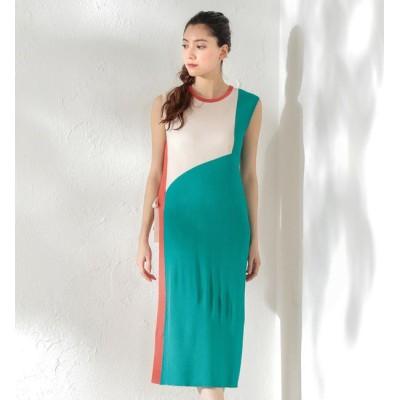【ラブレス/LOVELESS】 【LOVELESS】WOMEN カラーブロックニットドレス