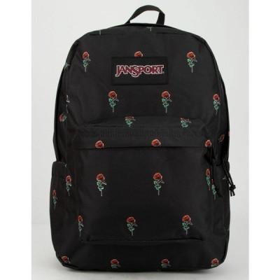 ジャンスポーツ JANSPORT レディース バックパック・リュック スーパーブレイク バッグ SuperBreak Rose Icon Backpack BLACK COMBO