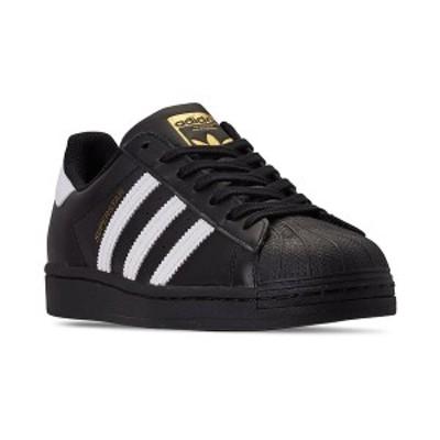 アディダス メンズ スニーカー シューズ Men's Superstar Casual Sneakers from Finish Line Core Black, Feather White