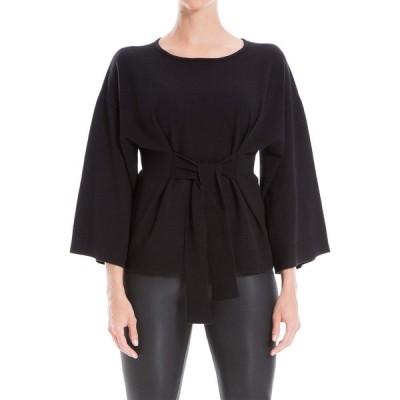 マックススタジオ MAXSTUDIO レディース ニット・セーター 七分袖 トップス 3/4 Sleeve Pullover Sweater Black