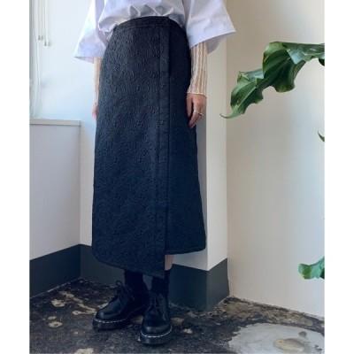 スカート 【PUBLUX/パブリュクス】ジャガードタイトロングスカート