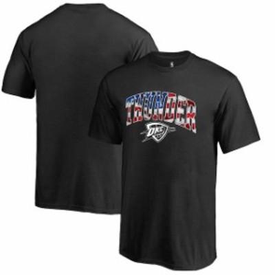 Fanatics Branded ファナティクス ブランド スポーツ用品  Oklahoma City Thunder Youth Black Banner Wave T-Shirt