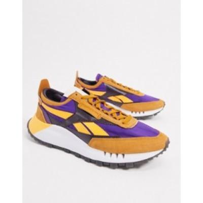 リーボック メンズ スニーカー シューズ Reebok Classic Legacy sneakers in orange ORANGE