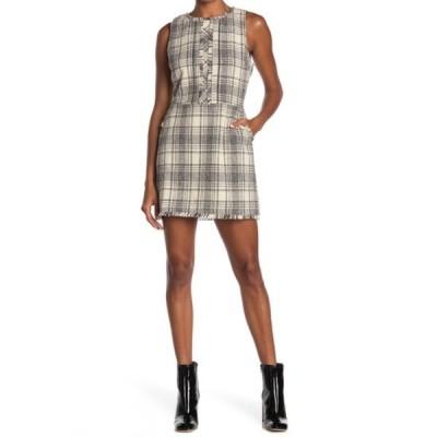 アドレイン ラエ レディース ワンピース トップス Plaid Tweed Mini Dress IVORY/BLACK