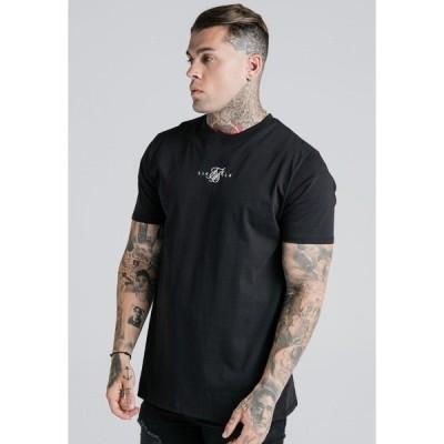 シックシルク Tシャツ メンズ トップス BASIC CORE TEE - Basic T-shirt - black