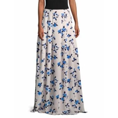 オスカーデラレンタ レディース スカート Floral Pleated Silk Skirt