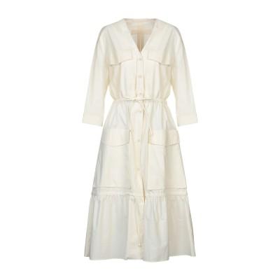 テーラ TELA 7分丈ワンピース・ドレス アイボリー 42 コットン 100% 7分丈ワンピース・ドレス