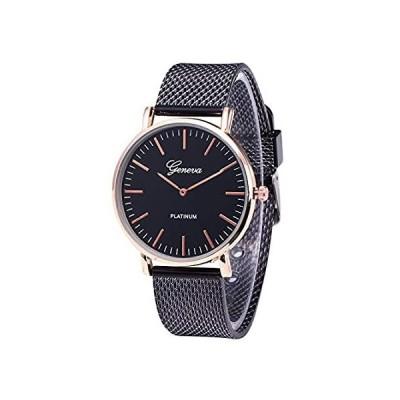 Selinora メンズ 腕時計 ファッション ステンレススチール クォーツ ミリタリー スポーツ プラスチックバンド ダイアル 腕時計 free ブ