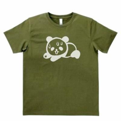動物 生き物 Tシャツ ダメパンダ カーキー