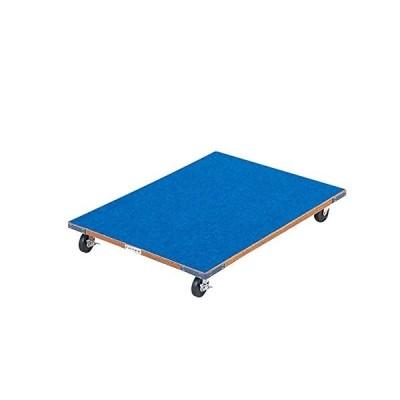 エバニュー EVERNEW とび箱 運搬車 Y-A型用 長さ80×幅62×高さ11.5cm 青 ラワン 合板 跳箱 等 器具 移動 運搬 四輪車 日本製 体育 学校 送料無料 EKF536