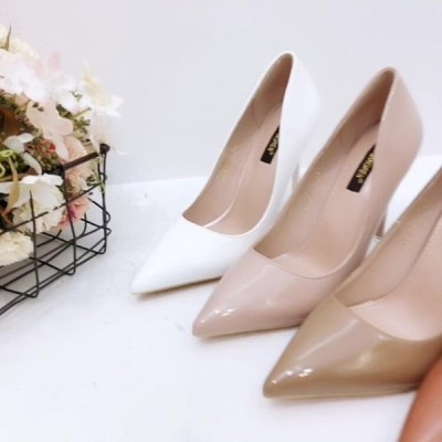 パンプス 靴 シューズ レディース 安い 可愛い 綺麗め お洒落 誕生会 OL 通勤  PUレザー オフィス ポインテッドトゥ ピンヒール