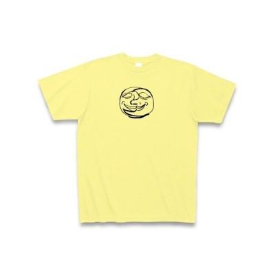 あの顔 Tシャツ Pure Color Print(ライトイエロー)
