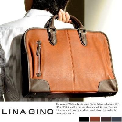 ビジネスバッグ メンズ カジュアル LINA GINO ARMA  ブリーフケース 通勤 多機能ショルダー B4 柔らかい