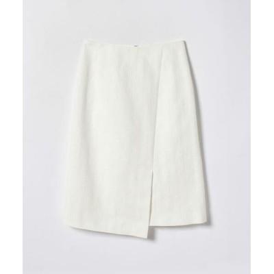 ANAYI/アナイ スラブジャガードラップ風スカート ホワイト1 38