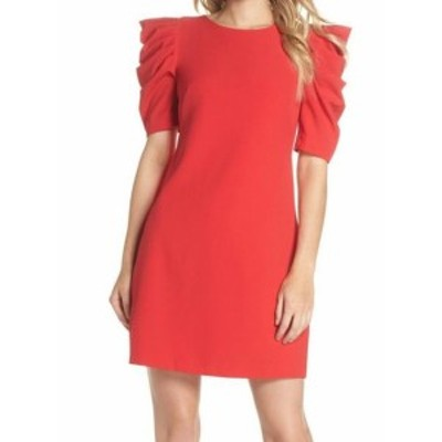 Chelsea28 チェルシートウェンティエイト ファッション ドレス Chelsea28 NEW Red Puff Sleeve Womens Size 0 Boat Neck Sheath Dress