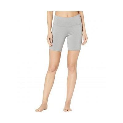 Jockey Active ジョッキーアクティブ レディース 女性用 ファッション ショートパンツ 短パン Competitor Performance Bike Shorts - Light Grey Melange
