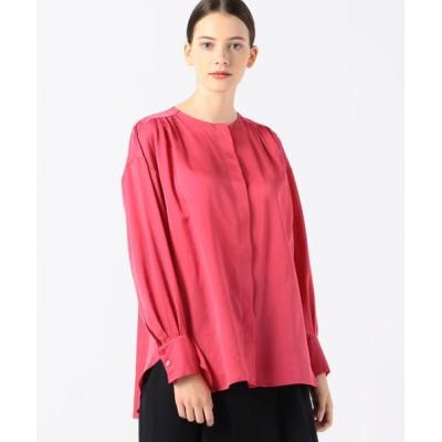 TOMORROWLAND/トゥモローランド コットンシルク バックギャザーシャツ 31 ライトピンク 36(9号)
