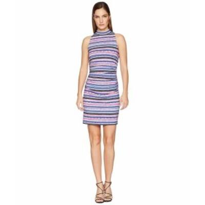Nicole Miller ニコルミラー ドレス 一般 Mock Neck Shirred Dress
