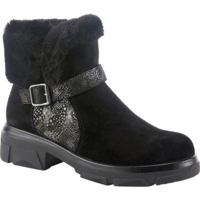 スプリングステップ ブーツ&レインブーツ シューズ レディース Tread Ankle Bootie (Women's) Black Suede