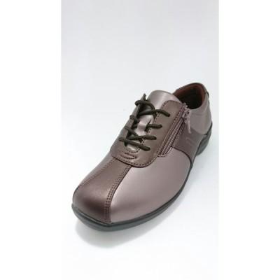 ムーンスター 靴 レディースコンフォートシューズ 軽量 外反母趾 4E EVE195 MセピアC