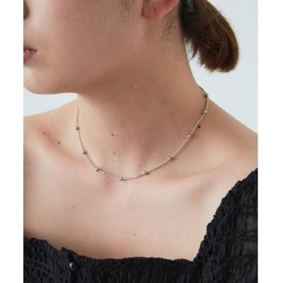 YARD PLUS/AUNT MARIE'S / flowriri ボールデザインショートネックレス WOMEN アクセサリー > ネックレス