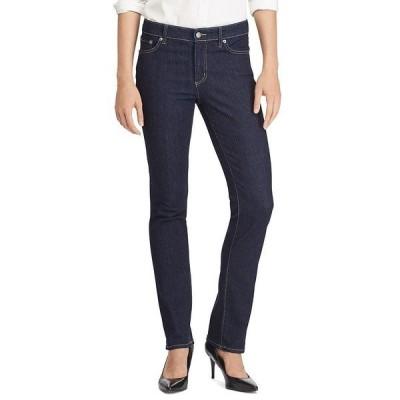ラルフローレン レディース デニムパンツ ボトムス Premier Stretch Denim Straight Leg Jeans Dark Rinse