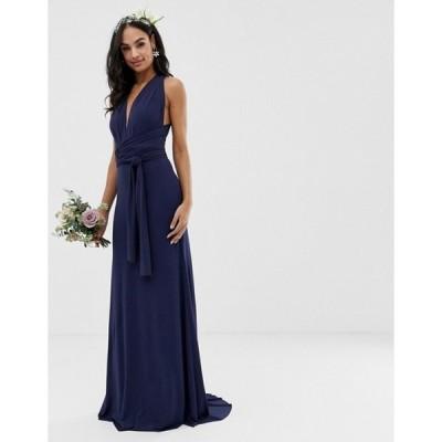 ティエフエヌシー レディース ワンピース トップス TFNC bridesmaid exclusive multiway maxi dress in navy