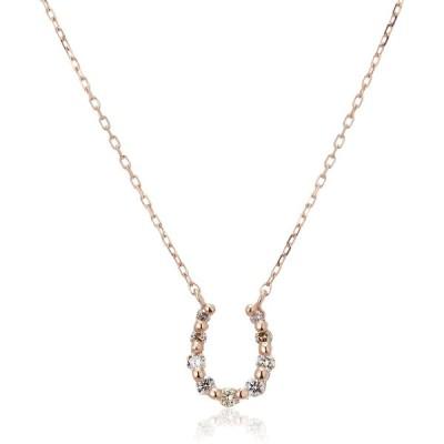 [VAヴァンドーム青山] VA VENDOME AOYAMA K18PG ダイヤモンド 0.06ct 馬蹄 ホースシュー ネックレス GGAN0016