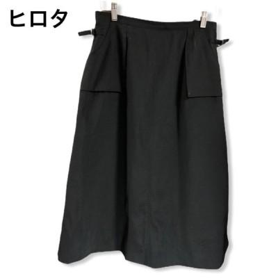 ロングスカート 黒 ブラック ヒロタ