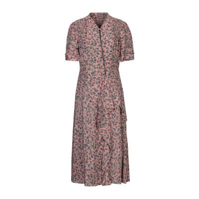 BURBERRY 7分丈ワンピース・ドレス ピンク 36 シルク 100% 7分丈ワンピース・ドレス