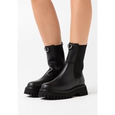 ブロンクス ブーツ&レインブーツ レディース シューズ GROOV-Y - Platform ankle boots - black