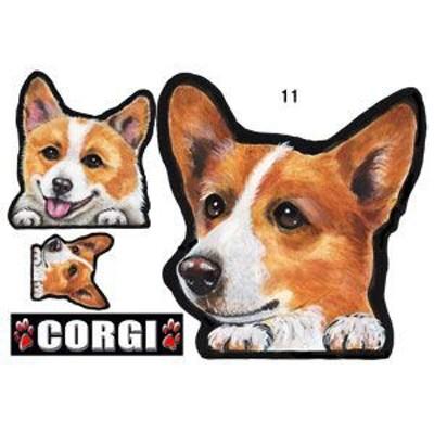 犬 ステッカー/コーギー11/犬/シール/グッズ/ネーム入れ不可/愛犬/雑貨/ペット/車/犬雑貨