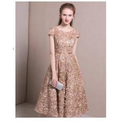 ワンピース ドレス ひざ下丈 半袖 花柄 きれいめ パーティ お呼ばれ フォーマル 20代 30代 春夏 b123