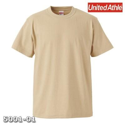Tシャツ 半袖 メンズ ハイクオリティー 5.6oz M サイズ ライトベージュ 無地 ユナイテッドアスレ CAB
