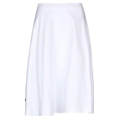 プラダ PRADA 7分丈スカート ホワイト 38 コットン 100% 7分丈スカート