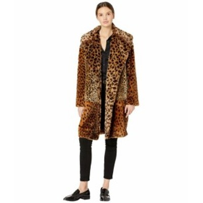 Blank NYC ブランクニューヨーク 服 一般 Leopard Faux Fur Long Jacket in Party Animal