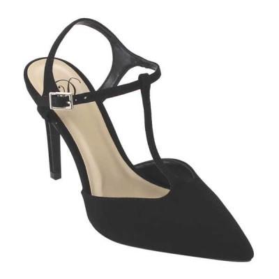 ヒール パンプス シューズ 靴 海外ブランド ラブ Delicious IA35 レディース T-ストラップ アンクルバックルd Stiletto ハイ ヒール ドレス パンプスs BLACK