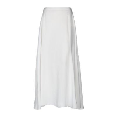 OUVERT DIMANCHE ロングスカート ホワイト M レーヨン 100% ロングスカート