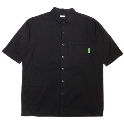 WILLY CHAVARRIA×WISM 2019SS WILLY S/S WORK SHIRT 半袖ワークシャツ ブラック サイズ:S (神戸三宮セ