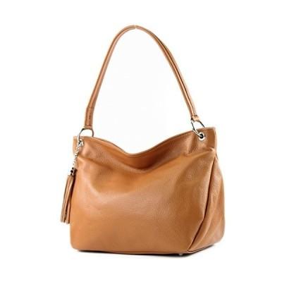 modamoda de - ital. Leather Case Shoulder Bag Shoulder Bag Genuine Leather T154, Colour:Camel 並行輸入品