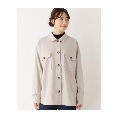 Cutie Blonde(キューティーブロンド)【M-L】フラップポケットミリタリーシャツ