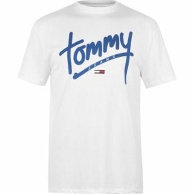 トミー ジーンズ Tommy Jeans メンズ Tシャツ トップス written tee Classic White