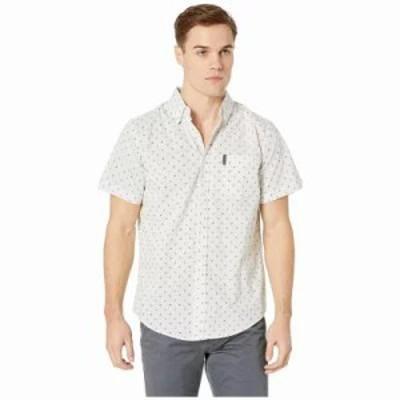 ベンシャーマン シャツ Mixed Target Print Shirt White