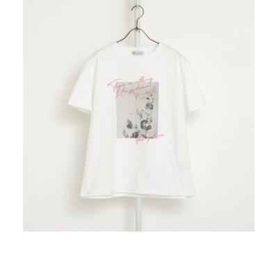 ボタニカルフォトプリントTシャツ
