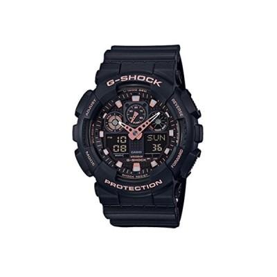 腕時計 カシオ メンズ GA100GBX-1A4 Casio G-Shock Black Rose Gold Analog Digital Watch GA100GBX-1A4