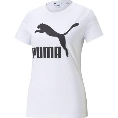 プーマ Puma レディース Tシャツ 大きいサイズ トップス Plus Size Cotton Classics Logo T-Shirt Puma White