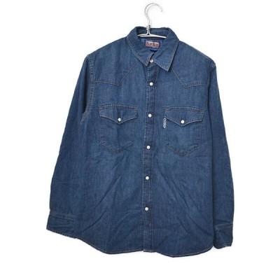 [新品] ブルーブルー BLUE BLUE ◆ Light Denim Quilt Western Shirts デニム シャツ/M/インディゴ Q567